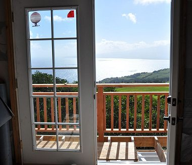 Maui Barn Balcony under Construction and French Doors
