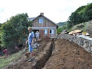 24-inch Deep Trench Dug to Barn for Electrical Power, February 19, 2010