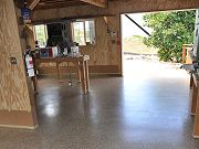 Barn Floor with Epoxy Clear Coat, June 9, 2010