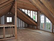 Barn Loft Upstairs with French Doors Installed, February 17, 2010