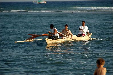 Marshall Islands Outrigger Canoe, 2007 International Festival of Canoes in Lahaina