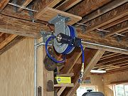 Compressed Air Plumbing and Hose Reel, June 25, 2010