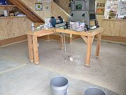Epoxy Coating Barn Floor, June 5, 2010