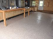Epoxy Coating on Barn Floor, June 5, 2010