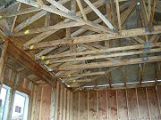 Inside of Garage and Roof Joists