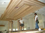 Installation of Cedar Ceiling in Great Room.  April 2, 2009