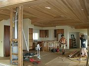 Great Room with Kitchen Cabinets being Installed. May 15, 2009