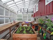 Greenhouse Interior with First Plants, April 5, 2010