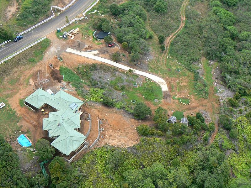House from a Helicopter Viewed Overhead.  May 11, 2009