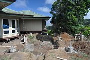 Hut Footings Poured and Curing, Aug. 16, 2011