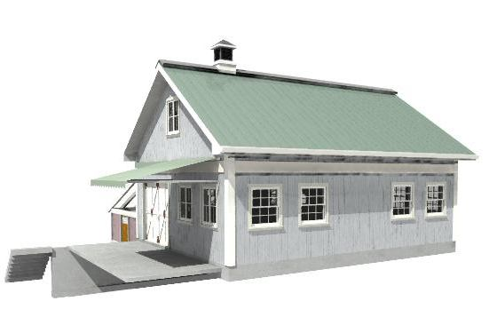 Preliminary Cad Rendering of Workshop