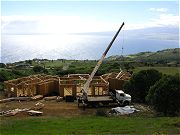 Roof Truss Delivery in August, 2008