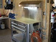 Stainless Steel Workbench in Barn, August 19, 2010