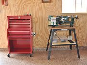 Tool Chest and Small Lathe in Barn, August 19, 2010