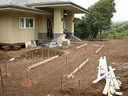 Front Walkways Being Formed, August 19, 2009