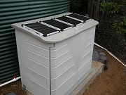 Water Pump Shed with Solar Panels