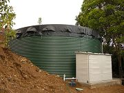 20,000 Gallon Water Tank and Shed for Pump