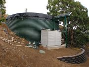 20,000 Gallon Water Tank and Solar / Battery Operated Pump.  Mar. 6, 2009