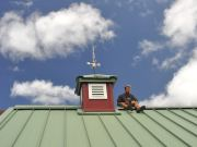 John Taking a Break After Installing Wind Vane On Cupola, June 2, 2010