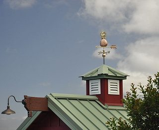 Maui Barn Wind Vane and Cupola