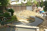 Pouring the Walkway and Wall Footing
