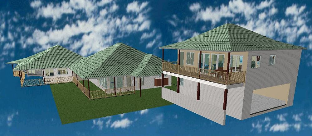 Perspective View of Preliminary House Design